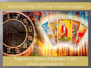 Прогноз на Ноябрь для 12 знаков зодиака.